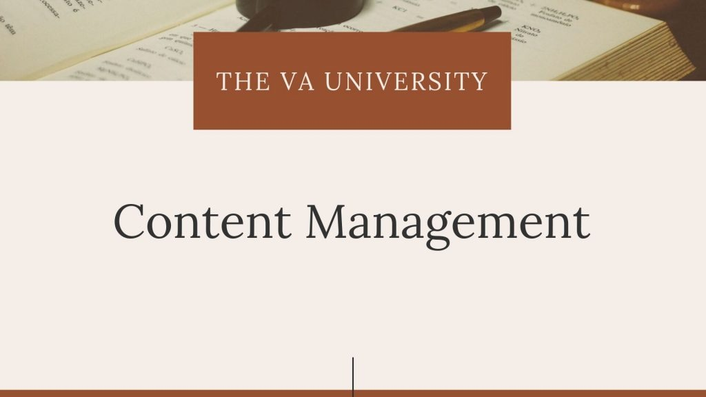 Content Management with The VA University